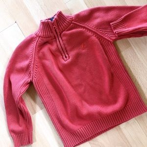 Boy Stylish Warm Red Mock Neck Knit Sweater ♥️🐎